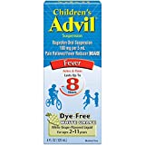 Children's Advil Suspension (4 fl. oz, White Grape-Flavored), 100mg Ibuprofen Fever Reducer/Pain Reliever, Dye-Free, Liquid Pain Medicine, Ages 2 - 11