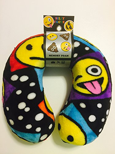Silly Faces Memory Foam Travel Pillow