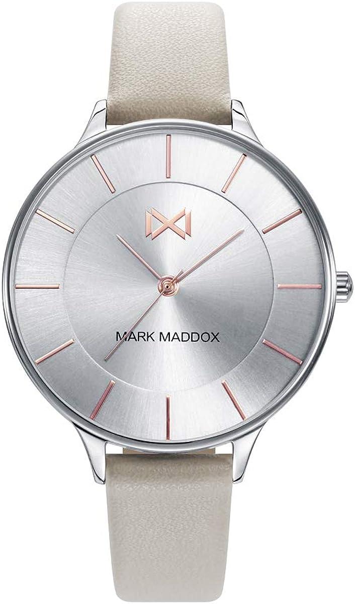 Mark Maddox Mujer MC7112-07 Acero y Piel Beige