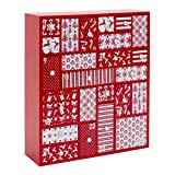 Wooden Advent Calendar with Drawers - Large Christmas Countdown Calendar 2019 for Kids or Adults | Nordic Theme Christmas Decoration | Family Keepsake and Christmas Tradition | 12.5in x 14.5in x 4in