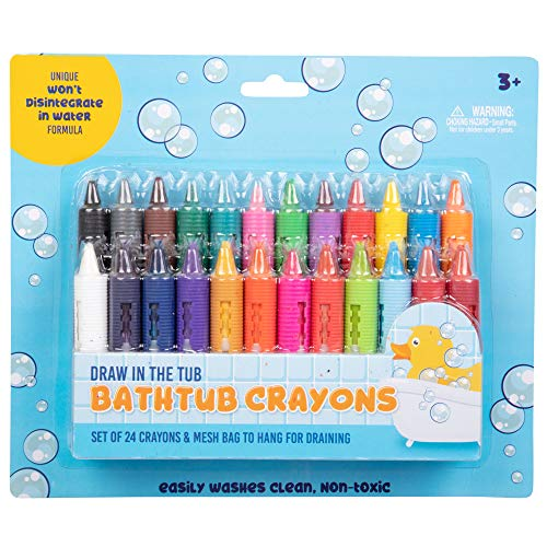 Bath Crayons Super Set - Set of 24 Draw in the Tub Colors with Bathtub Mesh Bag ()