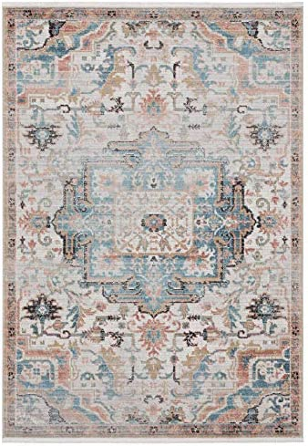 Azure Collection Faded Beige 7'9'x10'2' Persian Area Rug