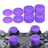 YoRHa Professional Thumb Grips Thumbstick Joystick Cap Cover (purple) Extra High 8 Units Pack for PS4, Switch PRO, PS3, Xbox 360, Wii U tablet, PS2 controller