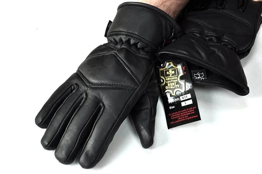 Large Motorcycle Gloves Genuine Leather Thinsulate Winter Gloves Police Gloves
