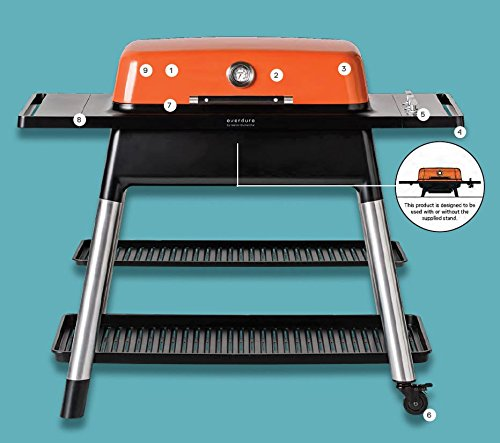 Everdure Furnace Freestanding Grill (HBG3OUS-HBGNGKUSV3), Natural Gas, Orange, 46.25-Inches