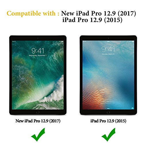 OMOTON New iPad Pro 12.9 Screen Protector, Tempered Glass Screen Protector with [High Responsivity] [High Definiton] [Bubble Free] for Apple iPad Pro 12.9 inch (2017 and 2015 Version) by OMOTON (Image #1)