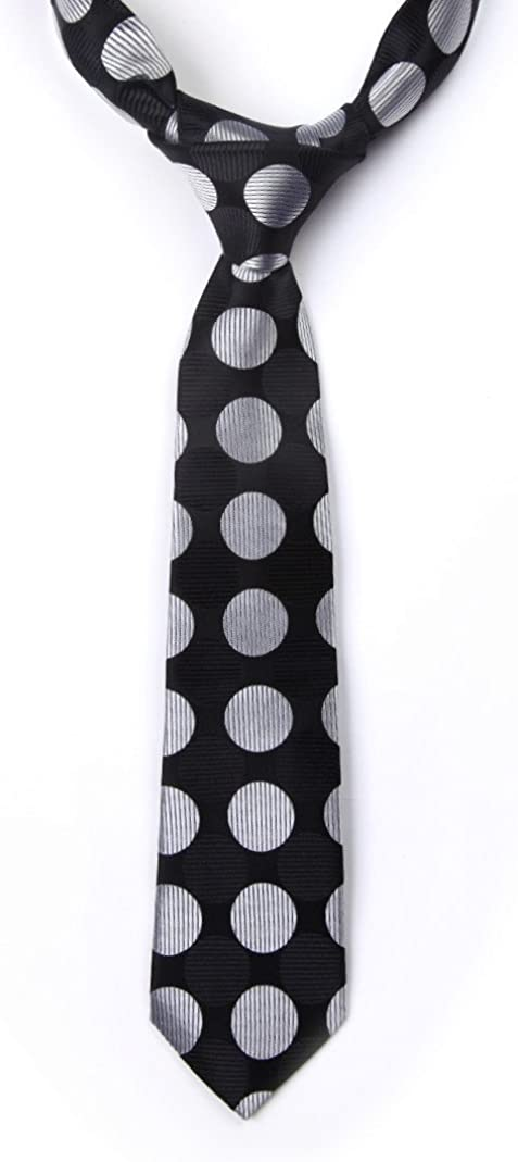 HISDERN Boys Woven Tie Necktie for Kids Child School Boy Wedding Classic Parent-child Tie