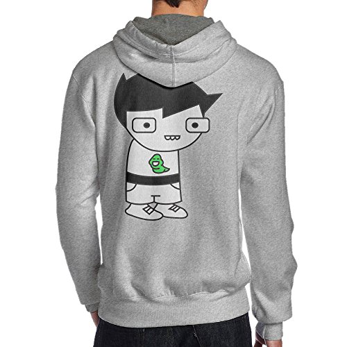 [TYEJML Homestuck John Egbert Men's Pullover Hooded Sweatshirt XL Ash] (John Homestuck Costumes)