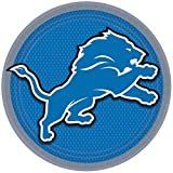"""Licensed MLB Detroit Lions Party Round Luncheon Plates Tableware, Paper, 9"""", Pack of 8"""