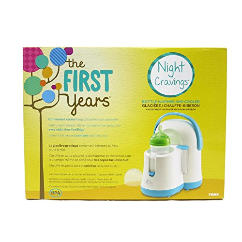 51B XkDTh7L - The First Years Night Cravings Bottle Warmer & Cooler, Blue/White