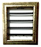 The Jewelry Frame Decorative Jewelry Organizer in a Picture Frame! Artfully Display Earrings, Bracelets, Necklaces on Your Wall! (8'' x 10'', Silver Jubilee)