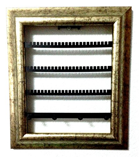"The Jewelry Frame Decorative Jewelry Organizer in a Picture Frame! Artfully Display Earrings, Bracelets, Necklaces on Your Wall! (8"" x 10"", Silver Jubilee)"