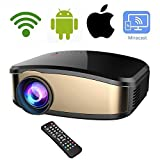 Wireless WiFi Video Projector DIWUER Full HD 1080P 1200 Lumens LED Home Cinema Movie Projector With HDMI/USB/VGA/AV Input for iPhone Android Phone PC Laptop