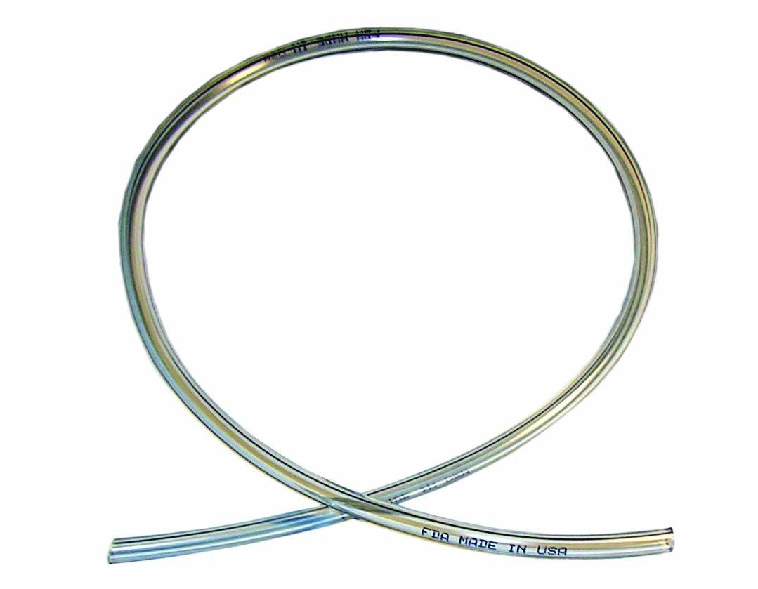 ATP Vinyl-Flex PVC Food Grade Plastic Tubing, Clear, 1'' ID x 1-1/4'' OD, 100 feet Length