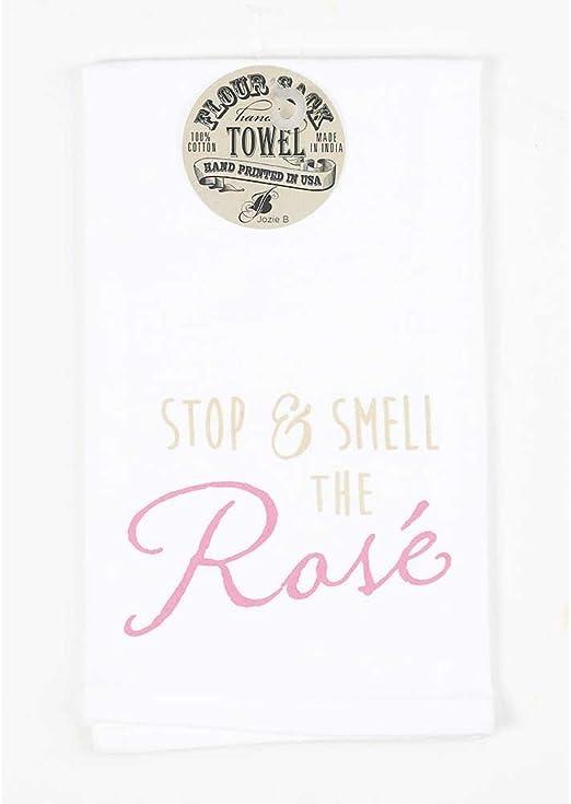 Stop and Smell rosa 18 x 22 todos los algodón toalla de harina ...