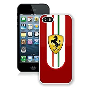 For iPhone 5S,Ferrari logo 2 White iPhone 5S Case Online