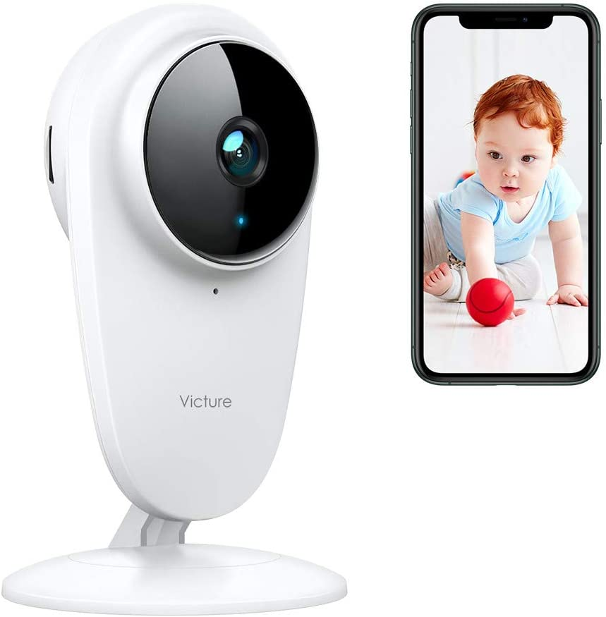 [ Updated ] Victure 1080P Home Security Baby Camera Indoor Pet Monitor with Night Vision 2-Way Audio Motion & Sound Detection for Baby/Elderly/Pet