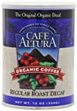 Cafe Altura Ground Organic Coffee, Regular Roast Decaf, 12 Ounce (Pack of 3)
