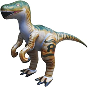 Jet Creations Inflatable Raptor Dinosaur Toy, 51