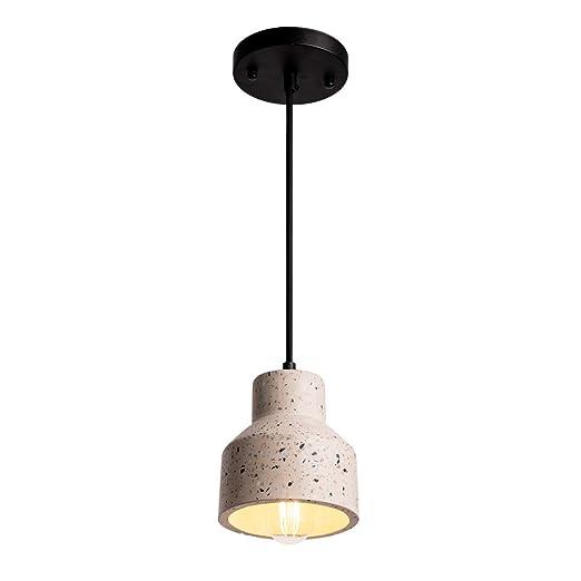 Amazon.com: Smellbt - Lámpara de techo de hormigón, Beige ...