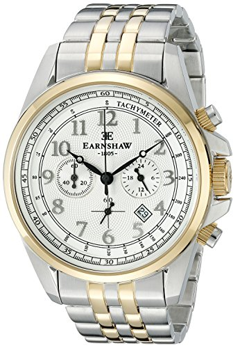 Thomas Earnshaw Men's ES-8028-44 Commodore Analog Display Japanese Quartz Silver Watch