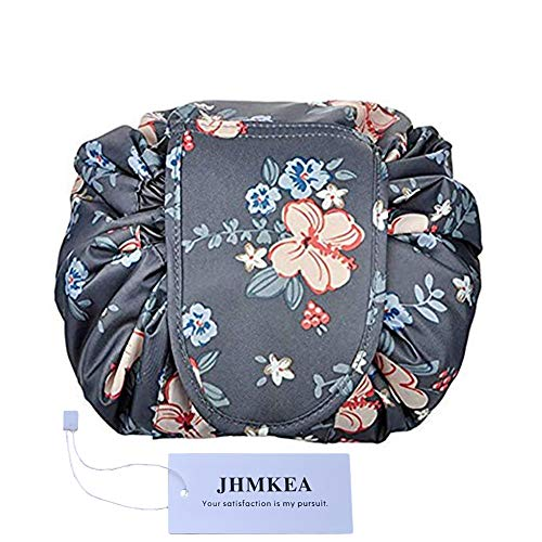 Cosmetic Makeup Organizer Lazy Drawstring Cosmetic Bag Large Capacity Waterproof Travel Makeup Pouch Magic Toiletry Bag for Womens Girls Christmas ()