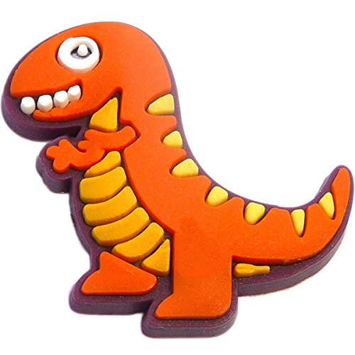 Orange Dinosaur Rubber Charm for Wristbands and -