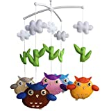 Wind-up Musical Mobile, Baby Gift Creative Hanging Toys [Owl, Colorful]