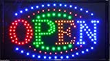 Large BRIGHT Animated Business LED OPEN Sign w. Switch 21'' X13'' #24