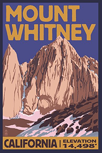 mt whitney travel poster