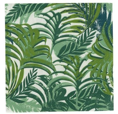 Fiesta Party Supplies Luau Palm Leaf Jungle Theme Cocktail Napkins Beverage paper napkins 40 count (Tropical Palm Dinner)