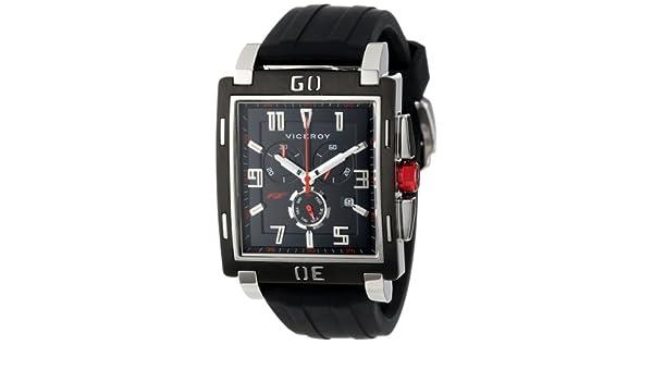 Viceroy 47719-55 - Reloj de Pulsera Hombre, Caucho, Color Negro: Amazon.es: Relojes