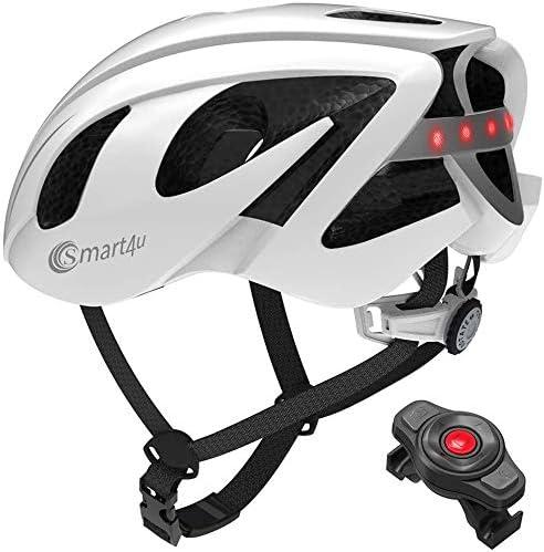[MAR] 大人用サイクリングヘルメットBTスピーカートランシーバーSOSアラートスマート自転車用ヘルメット、LED警告灯