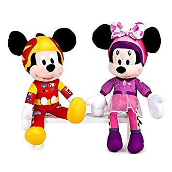 Peluche Minnie Mickey Disney Roadster Racers 39cm Soft Surtido