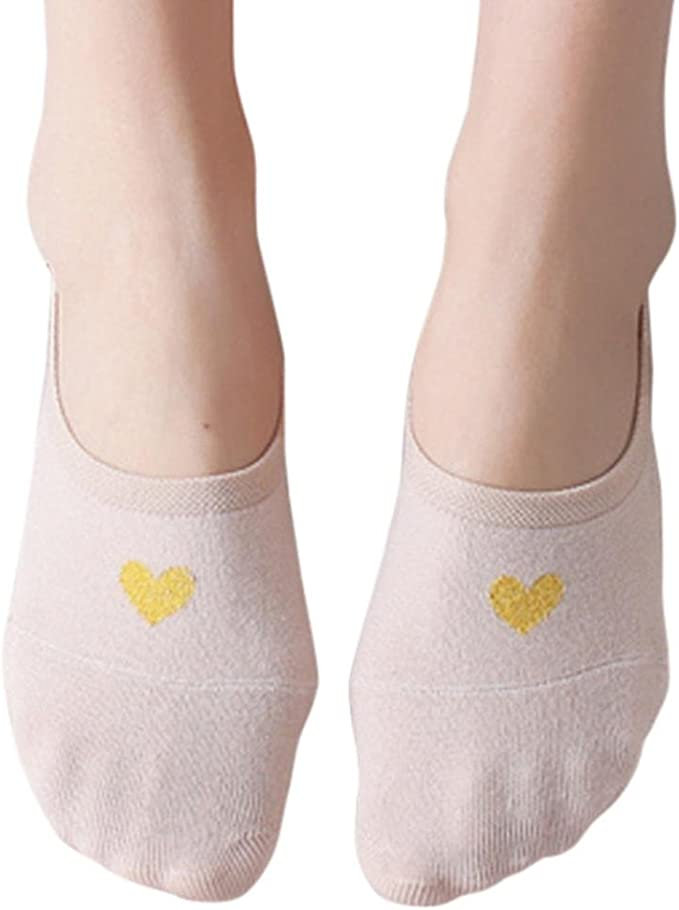 DRESS_start Calcetines Invisibles Mujer De Algodón Calcetines Cortos Elástico Calcetines Cortos Con Corazón, (Rosa): Amazon.es: Ropa y accesorios