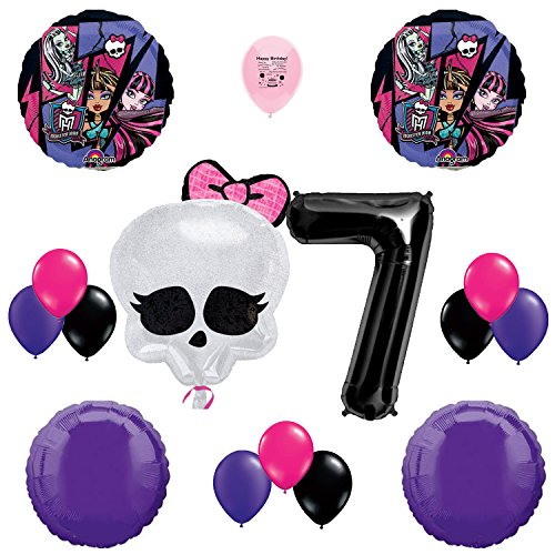 Monster High Party Supplies 7th Birthday Party Balloon Decoration (Monster Hight)