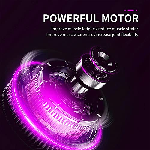 Electric Vibrating Massage Ball, Lacrosse Ball, Exercise Ball for Trigger Point, Deep Tissue Massager for Myofascial Release,Portable Fitness Massager for Pain Relief & Muscle Recovery (Purple)
