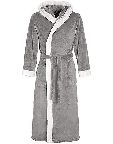 VJGOAL Invierno de Las Mujeres de Moda Casual Color sólido con Bata Pijamas Alargado de Manga