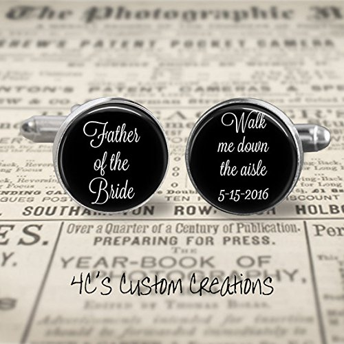 Amazon Custom Photo Cufflinks Wedding Keepsake Father Of The