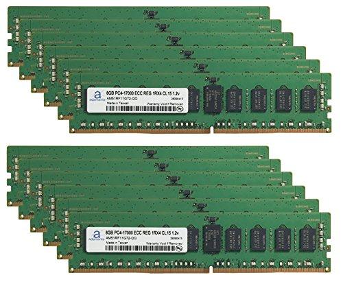 Adamanta 96GB (12x8GB) Server Memory Upgrade for Cisco UCS SmartPlay Select C240 M4L High Frequency 1 DDR4 2133 PC4-17000 ECC Registered 1Rx4 CL15 1.2v RAM
