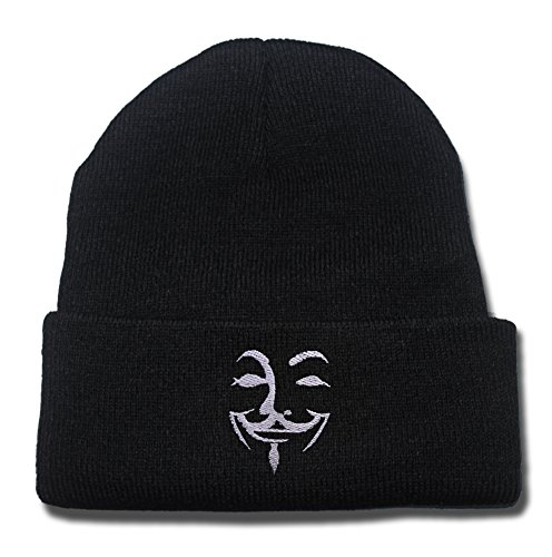 YINGMIN V For Bitterness Logo Beanie Fashion Unisex Embroidery Beanies Skullies Knitted Hats Skull Caps
