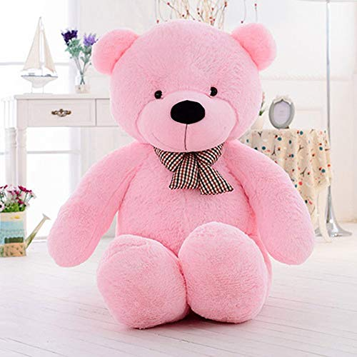 Misscindy Giant Teddy Bear Plush Stuffed Animals for Girlfriend or Kids 47 inch, (Pink)