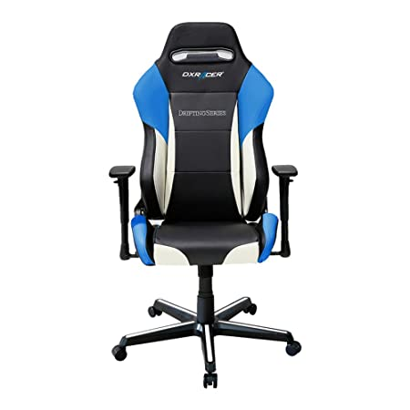 DXRacer Drifting Series DOH DM61 NWB Newedge Edition Racing Bucket Seat Office Chair Gaming Chair Ergonomic Computer Chair eSports Desk Chair Executive Chair Furniture With Pillows Black White Blue