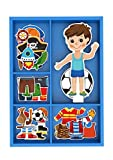 Toysters Magnetic Wooden Dress-Up Boy Doll Toy
