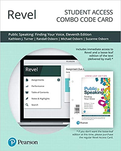 revel for public speaking finding your voice combo access card 11th edition