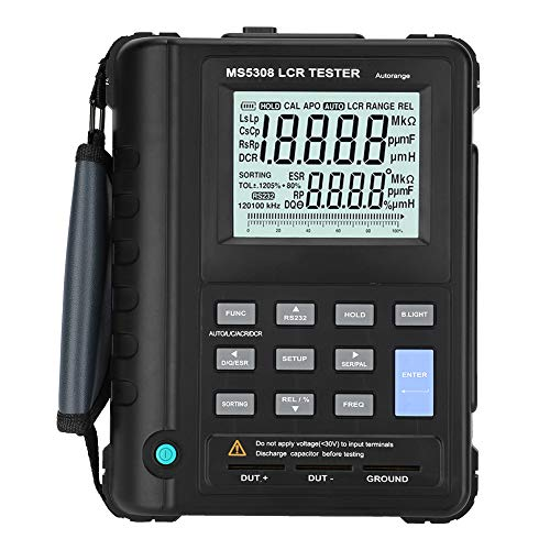 Akozon LCR Meter MS5308 Portable Handheld 100Khz Inductance Resistance Capacitance Meter