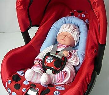 Sweet Baby ** SOFTY NewBorn ** Auto-Sitzverkleinerer//Kopfst/ütze f/ür Baby-Autositz Rot