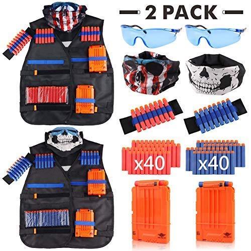 Tactical Vest Kit 2 Pack for Nerf Guns N-Strike Elite Series
