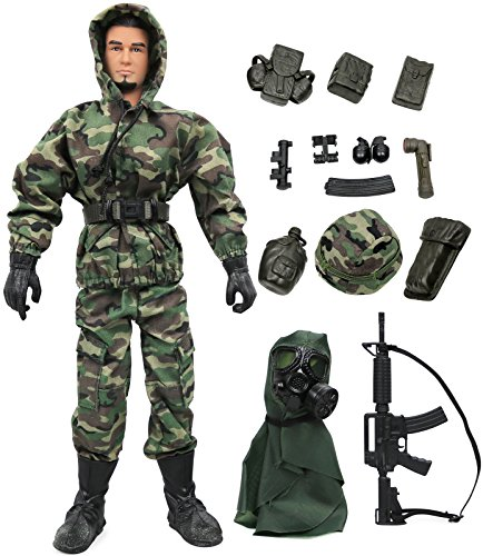 12 Inch Military Figures (Click N' Play Military Marine Nuclear Biological Chemical (NBC) Specialist 12
