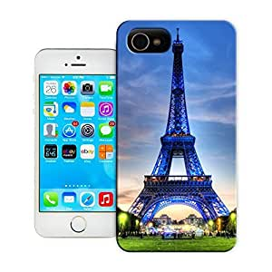 Unique Phone Case Eiffel Tower Paris in green and indigo colors Hard Cover for iPhone 4/4s cases-buythecase